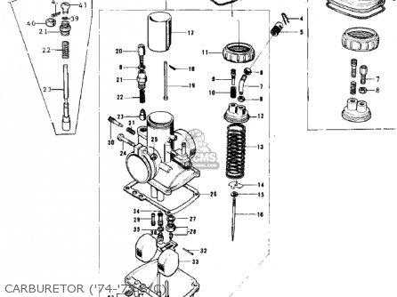 Kawasaki 1974 G5-b Carburetor 74-75 B c