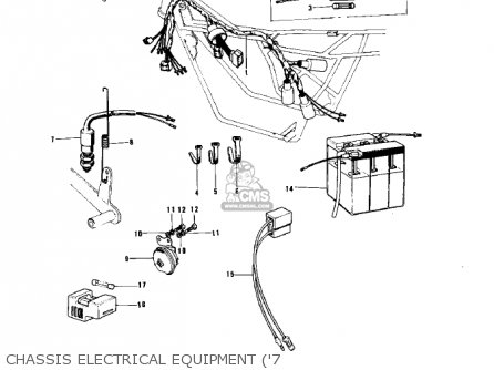 Kawasaki 1974 G5-b Chassis Electrical Equipment 7