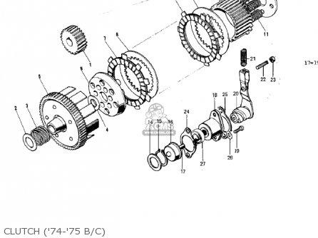 Kawasaki 1974 G5-b Clutch 74-75 B c