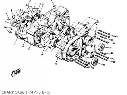 Kawasaki 1974 G5-b Crankcase 74-75 B c