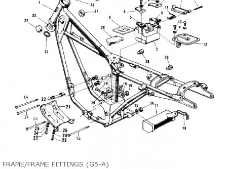 Kawasaki 1974 G5-b Frame frame Fittings g5-a