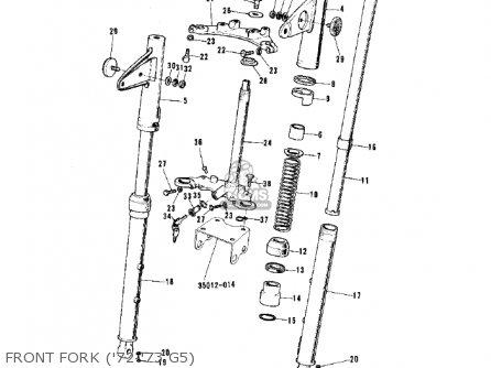 Kawasaki 1974 G5-b Front Fork 72-73 G5