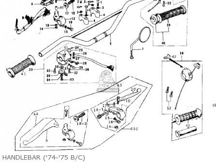 Kawasaki 1974 G5-b Handlebar 74-75 B c