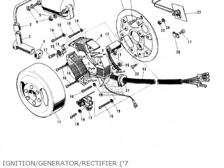 Kawasaki 1974 G5-b Ignition generator rectifier 7