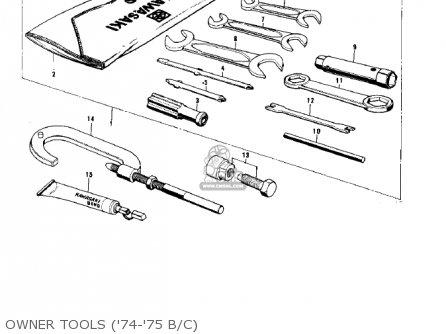 Kawasaki 1974 G5-b Owner Tools 74-75 B c