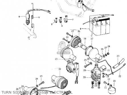 Kawasaki 1974 G5-b Turn Signals chassis Electrical