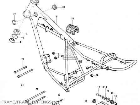 Kawasaki 1976 Kd125-a2 Frame frame Fittings