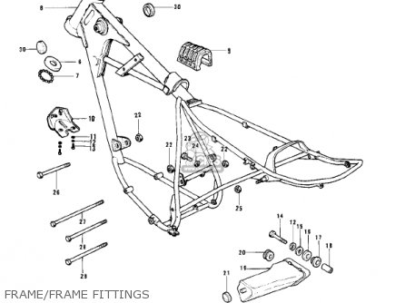 Kawasaki 1976 Kd175-a1 Frame frame Fittings