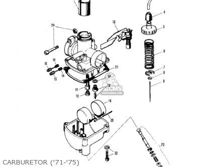 Kawasaki 1976 Kv75-a5 Carburetor 71-75