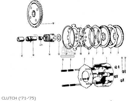 Kawasaki 1976 Kv75-a5 Clutch 71-75