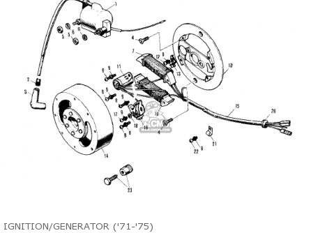 Kawasaki 1976 Kv75-a5 Ignition generator 71-75
