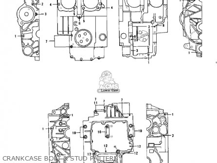 Kawasaki 1976 Kz750-b1 Crankcase Bolt  Stud Pattern