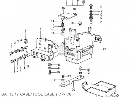 Kawasaki 1978 Kz1000-a2 Kz1000 Battery Case tool Case 77-78