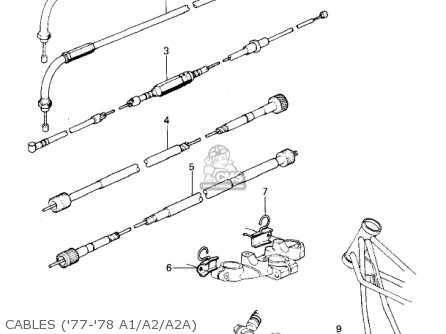 Kawasaki 1978 Kz1000-a2 Kz1000 Cables 77-78 A1 a2 a2a