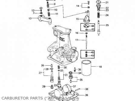 Kawasaki 1978 Kz1000-a2 Kz1000 Carburetor Parts 77-78 A1 a2