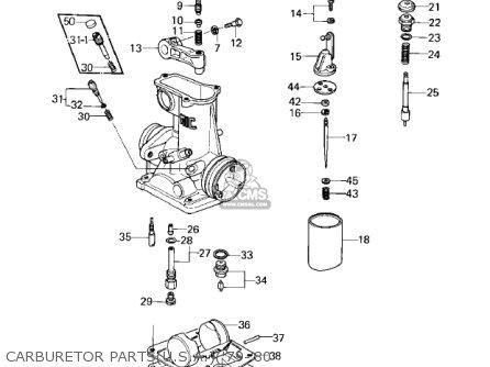 Kawasaki 1978 Kz1000-a2 Kz1000 Carburetor Partsu s a 79-80