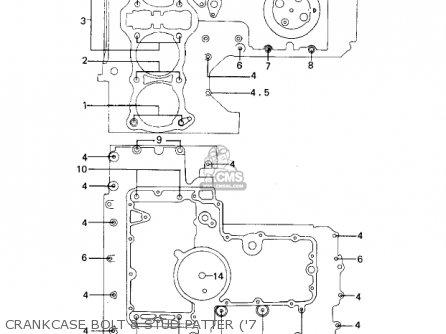 Kawasaki 1978 Kz1000-a2 Kz1000 Crankcase Bolt  Stud Patter 7
