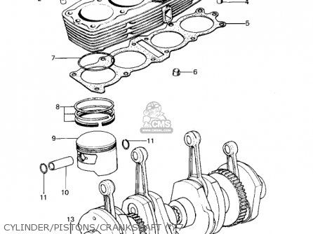 Kawasaki 1978 Kz1000-a2 Kz1000 Cylinder pistons crankshaft 77
