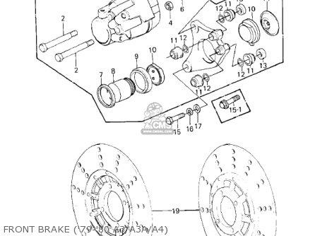 Kawasaki 1978 Kz1000-a2 Kz1000 Front Brake 79-80 A3 a3a a4