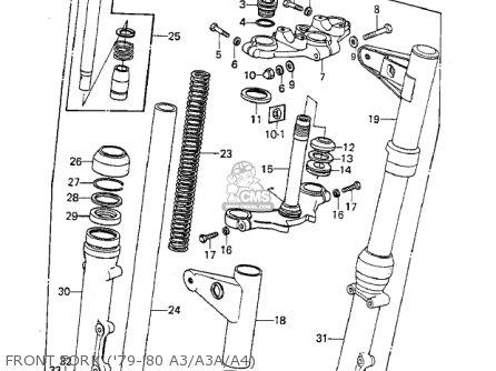 Kawasaki 1978 Kz1000-a2 Kz1000 Front Fork 79-80 A3 a3a a4