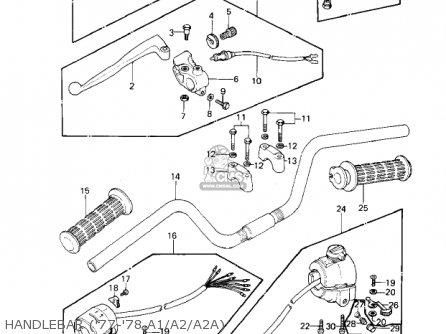 Kawasaki 1978 Kz1000-a2 Kz1000 Handlebar 77-78 A1 a2 a2a