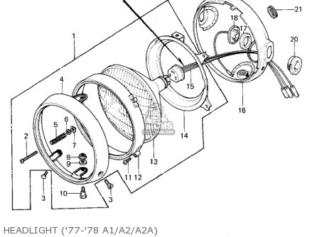 Kawasaki 1978 Kz1000-a2 Kz1000 Headlight 77-78 A1 a2 a2a