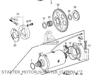 Kawasaki 1978 Kz1000-a2 Kz1000 Starter Motor starter Clutch 7