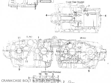 2001 Kawasaki VULCAN 500 LTD (EN500-C6) Crankcase Bolt Pattern