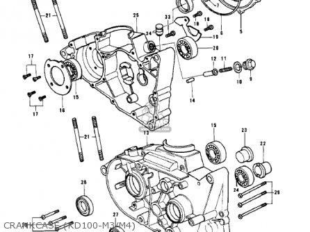 Kawasaki 1979 Kd100-m4 Crankcase kd100-m3 m4