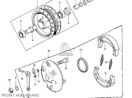 Kawasaki 1979 Kd100-m4 Front Hub brake