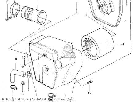 Kawasaki 1979 Kl250-a2 Klr250 Air Cleaner 78-79 Kl250-a1 a1