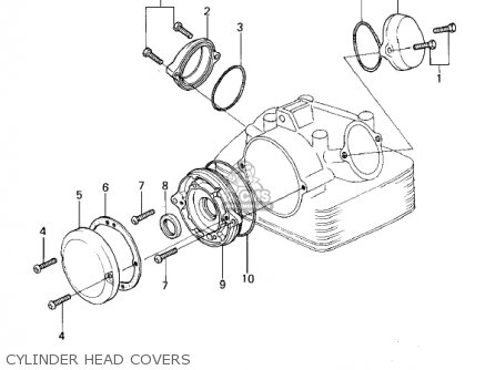 Kawasaki 1979 Kl250-a2 Klr250 Cylinder Head Covers
