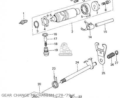 Kawasaki 1979 Kl250-a2 Klr250 Gear Change Mechanism 78-79 K