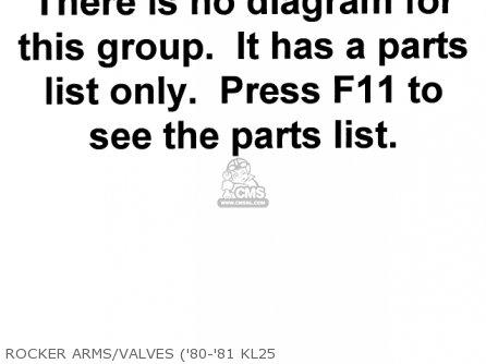 Kawasaki 1979 Kl250-a2 Klr250 Rocker Arms valves 80-81 Kl25