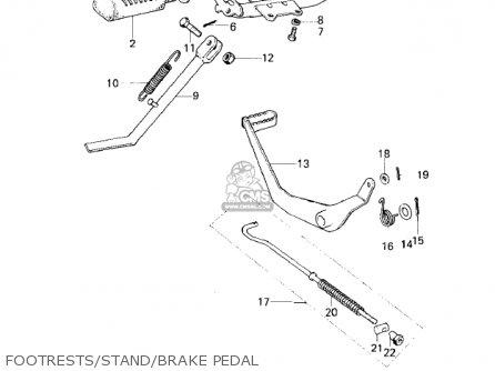 Kawasaki 1979 Km100-a4 Footrests stand brake Pedal