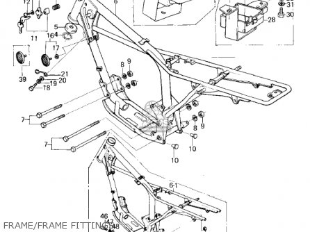 Kawasaki 1979 Km100-a4 Frame frame Fittings