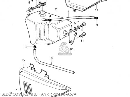 Kawasaki 1979 Km100-a4 Side Covers oil Tank km100-a6 a