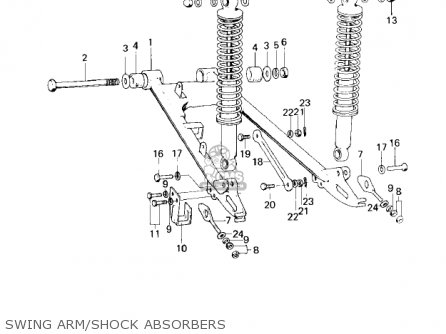 Kawasaki 1979 Km100-a4 Swing Arm shock Absorbers