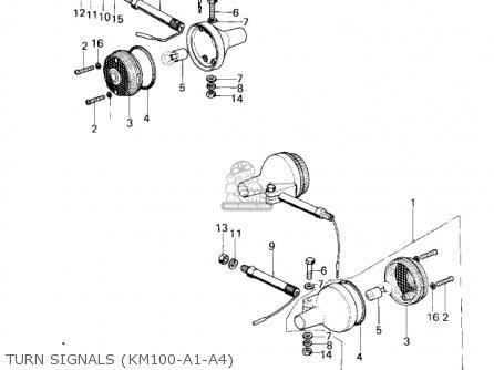 Kawasaki 1979 Km100-a4 Turn Signals km100-a1-a4