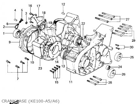 ford explorer ke light wiring diagram kawasaki 1981 ke100-a10 ke100 parts list partsmanual ... #13