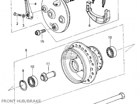 Kawasaki 1981 Kx250-a7 Kx250 Front Hub brake