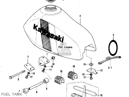 Kawasaki 1981 Kx250-a7 Kx250 Fuel Tank