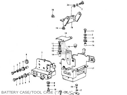 Kawasaki 1981 Kz1000-c4 Police 1000 Battery Case tool Case 78 C1 c