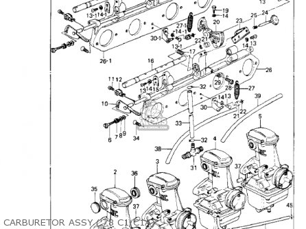 Kawasaki 1981 Kz1000-c4 Police 1000 Carburetor Assy 78 C1 c1a