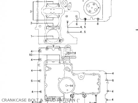 Kawasaki 1981 Kz1000-c4 Police 1000 Crankcase Bolt  Stud Pattern