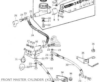 Kawasaki 1981 Kz1000-c4 Police 1000 Front Master Cylinder kz1000-c1