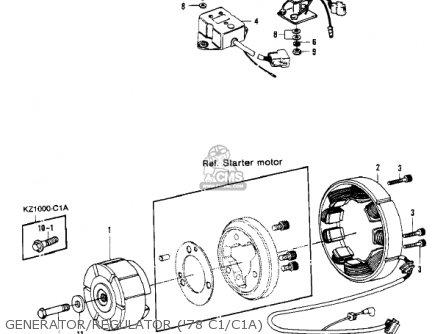 Kawasaki 1981 Kz1000-c4 Police 1000 Generator regulator 78 C1 c1a