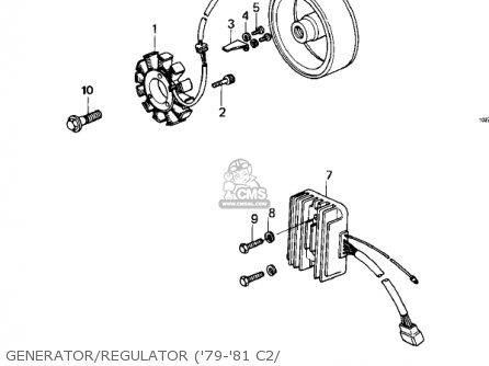 Kawasaki 1981 Kz1000-c4 Police 1000 Generator regulator 79-81 C2