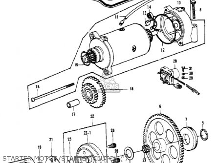Kawasaki 1981 Kz1000-c4 Police 1000 Starter Motor starter Clutch 7