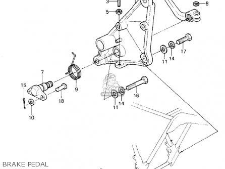 Kawasaki 1981 Kz1300-a3 Brake Pedal